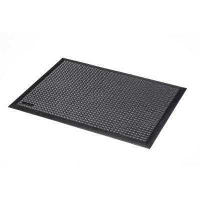 Arbeitsplatzmatte, Naturgummi, genoppt - schwarz LxBxH 1500 x 900 x 13 mm - Arbeitsplatzmatte Arbeitsplatzmatten Bodenbelag Bodenschutzmatte