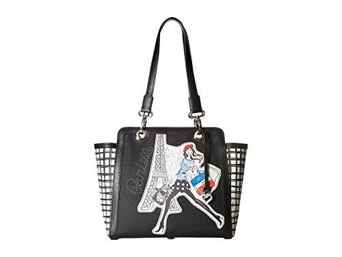 Brighton Fashionista Frenchi Black & White Paris Shoulder Bag Tote Purse ()