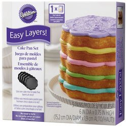 Wilton W4323 Easy Layers Cake Pans 4/Pkg - Scalloped