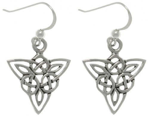 Jewelry Trends Sterling Silver Celtic Triangle Knot Life Circle Dangle Earrings (Sterling Silver Triangle Hook Clasp)