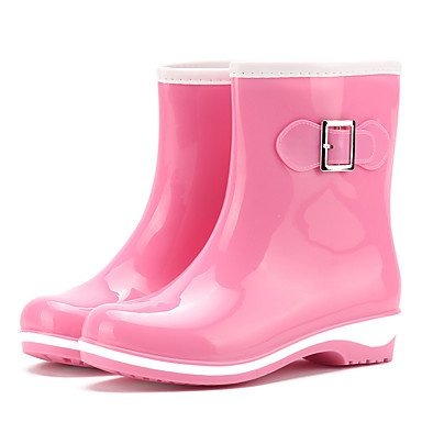 Women's Boots Rain Boots Spring Fall PVC Casual Outdoor Flat Heel Blushing Pink Light Purple Gray Black Flat Grey 5JJr7wtiq