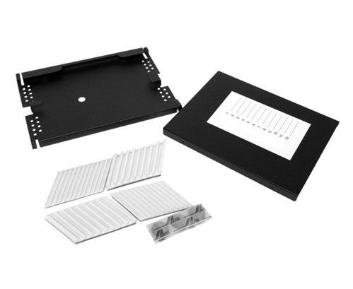 Fiber Splice Tray, 12 Single Fusion Splices, Aluminum, 0.5