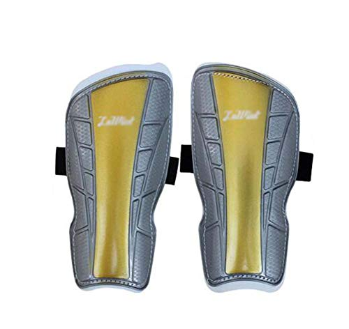 Urltra-Light Soccer Shin Guards Perforated Breathable Shin Guards for Kids, Gold