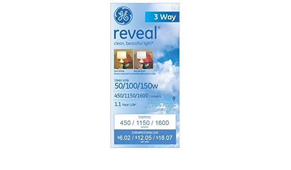 GE 97785-12 50//100//150-Watt A21 3-Way Reveal 12-Pack
