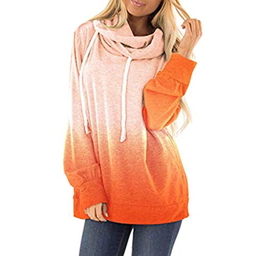 Sunmoot Clearance Sale Womens Sweatshirt Hoodies Melange Colorblock Casual Tie Dyes Print Loose Drawstring Pullover Tops