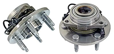 Detroit Axle - 4WD Only BOTH (2) Brand New Front (Left & Right) Wheel Hub and Bearing Assembly for Chevrolet & GMC Truck's & SUV's 4x4 6-Lug ABS