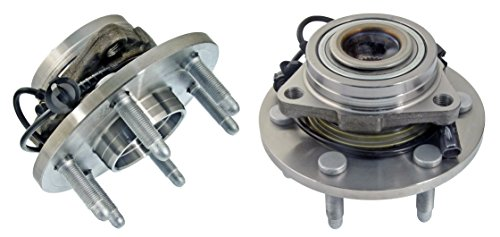 Detroit Axle - 4WD Only BOTH (2) Brand New Front (Left & Right) Wheel Hub and Bearing Assembly for Chevrolet & GMC Truck's & SUV's 4x4 6-Lug ABS (2007 Silverado Hub)