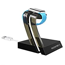 Rocontrip Apple Watch Stand, Apple iWatch Accessories Charging Dock Station Holds Apple Watch 38mm and 42mm (Gold)