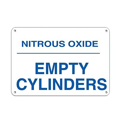 Personalized Metal Signs for Outdoors Nitrous Oxide Empty Cylinders Hazard Sign Flammable Aluminum METAL Sign 12 X 16 Inch