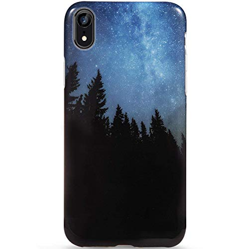 LUMARKE iPhone Xr Case,Cute Forest Stars for Girls Women Slim-Fit Glossy TPU Clear Bumper Flexible Soft Rubber Silicone Best Protective Phone Case Cover for iPhone XR [6.1]#28