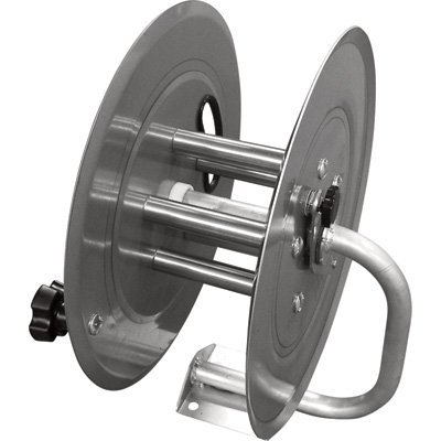 Hot2Go Stainless Steel Pressure Washer Hose Reel - 5000 PSI, 150ft.L x 3/8in. Capacity, Model# (Friction Drag Washer)