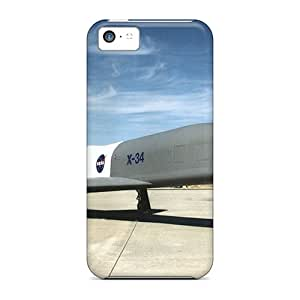 GARSHOP Iphone 5c Hybrid Tpu Case Cover Silicon Bumper Hight Speed Plane
