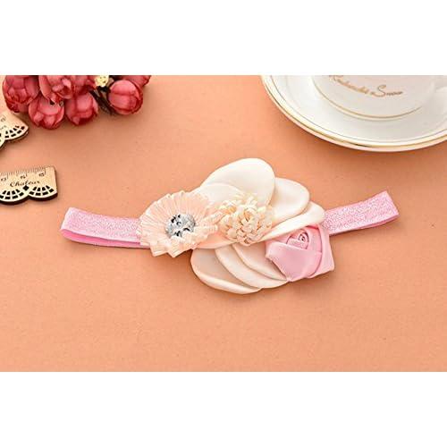 plutôt sympa Livraison gratuite dans le monde entier 100% authentique Emitha Bébé Filles bandeau de cheveux bébé fille avec fleur ...
