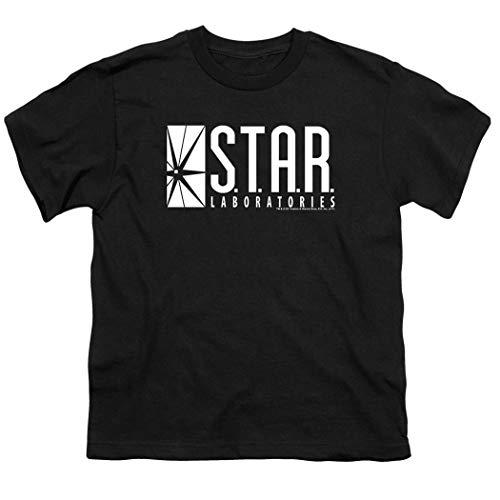 Youth Flash Superhero Star Labs T Shirt for Boys (X-Large) Black