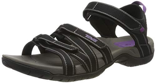Teva Women's Tirra Sandal,Black/Grey,8 M