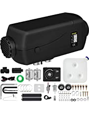 Happybuy 5KW Diesel Air Heater 12V Diesel Parking Heater Double Mufflers Diesel Heater 5000W with Knob Switch for RV Bus Car Motorhome Boats