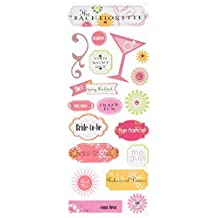 me & my BIG ideas Self-Adhesive Designer Chipboard Stickers, Bachelorette