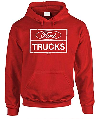 Ford Trucks F150 F250 4x4 Offroad - Unisex Pullover Hoodie Red (2006 Ford F250 4x4 Front Axle Diagram)