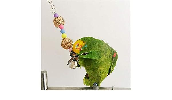 Multicolor de los Granos Juguetes de Aves Animales pájaro del Loro de los Juguetes Escalera Periquito oscilación Taladro del Arco Iris Periquito Escalera hámster Bird Nest Rattan: Amazon.es: Hogar