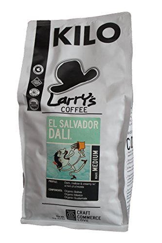 Larry's Coffee Organic Fair Trade Whole Bean, El Salvador Dali Blend, 2.2 Pound