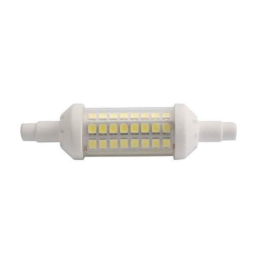 Mengonee 78 mm 220V-240V R7S 2835 64LED 6W Cer/ámica ajustables 360 grados de iluminaci/ón LED super brillante bulbos l/ámpara del ma/íz