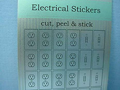 Switches Kit SILVER Dollhouse Miniature Artisan Peel /& Stick Electrical Outlets