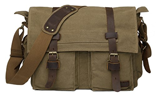 Extra Large Canvas Messenger Bag: Amazon.com