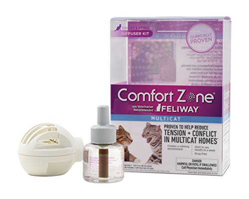 Comfort Zone Multicat Diffuser Kit for Cat Calming ()