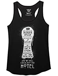 AHS Keyhole All Season Reference White Graphic Junior Racerback Tank