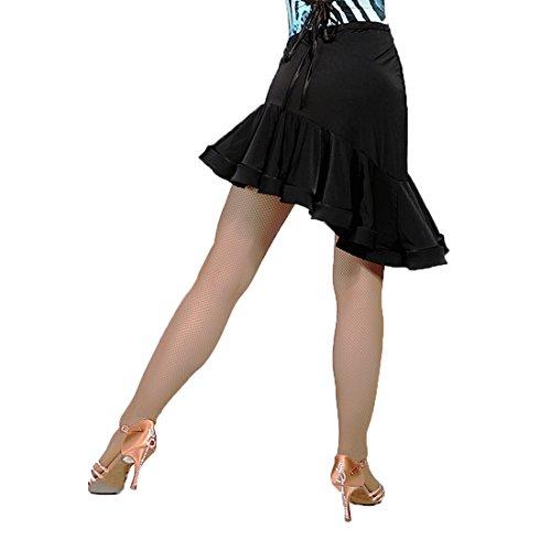 SCGGINTTANZ G2009 Professionnel de Danse de Salon Latine la Jupe de Conception Oblique irrgulire (FBA)black