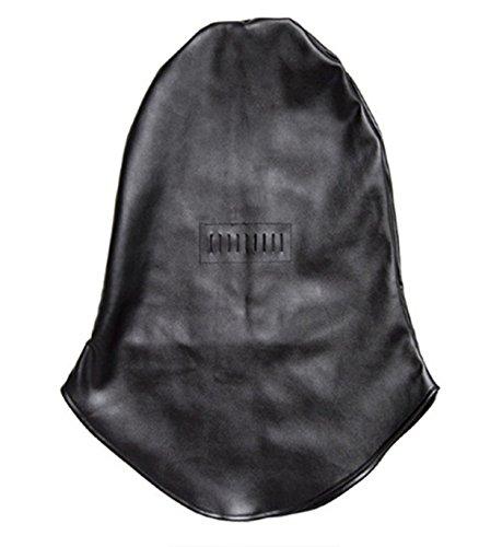 The Gimp Halloween Costume (Lieberpaar Black Leather Costume Gimp Mask Hood headpiece Halloween Mask (QQTT02))