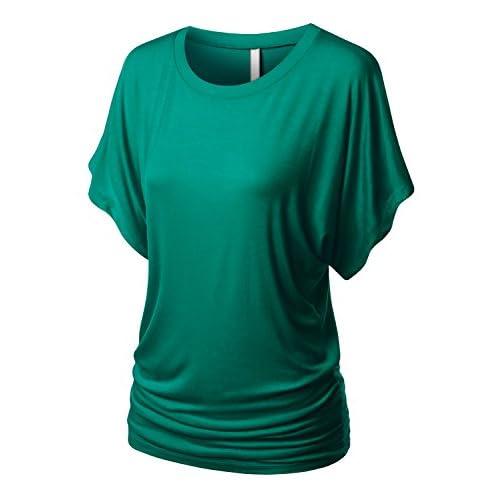 ddcd54c46d9 URBANCLEO Womens Short Sleeve Dolman Drape Top Shirts (PLUS Size Available)  outlet