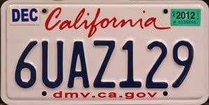 Dating california dmv license plate by numerical sequence