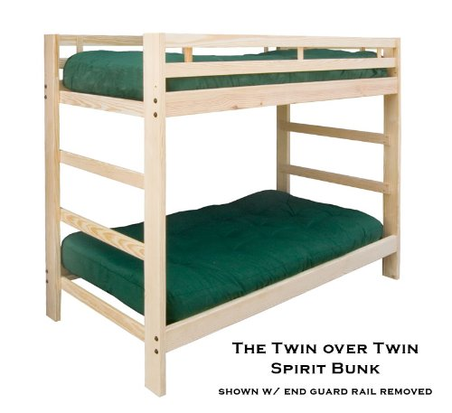 Twin over Twin Spirit Bunk Bed Natural Unfinished