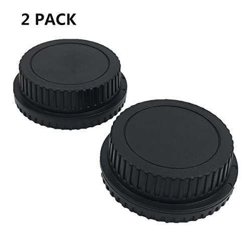 Rebel T1i Body (LXH 2 PACK Front Body Cap & Rear Lens Cap for All Canon EF-S EOS Mark II, III, IV, 7D Mark II D30, D60, 10D, 20D, 20DA, 30D, 40D, 5D, Rebel XT, XTi, XSi, T1, T1i, T2i, T3, T3i, T4, T4i, T5i)