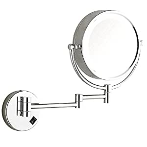 Amazon Com Dowry Wall Mounted Led Lighted Makeup Mirror