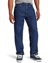 Men's Relaxed Fit Straight Leg Flannel Lined