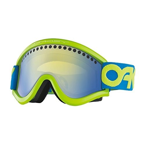 Oakley OO7042-03 E Frame Eyewear, Factory Pilot Retina Blue, High Intensity Yellow - Sunglasses Yellow Oakley Frame