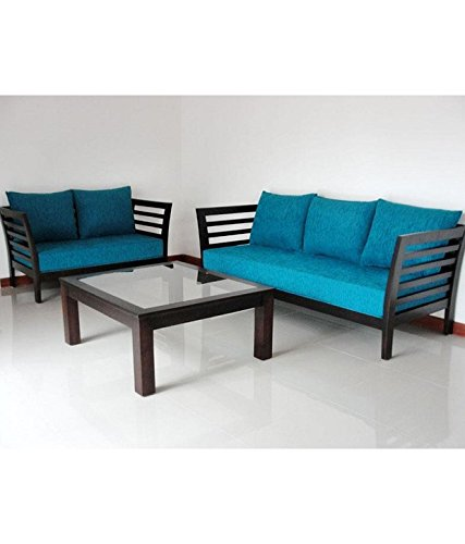 Woodkartindia Modern Design Wooden Sofa Set With Cushion Without Center Table 3 2