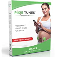 Pixie Tunes Premium High-Fidelity Baby Bump Speaker System to Play Sound, Music and Talk to Your Baby in The Womb; Compatible with Any Mobile Phone, Tablet and Portable Audio Device (Green)