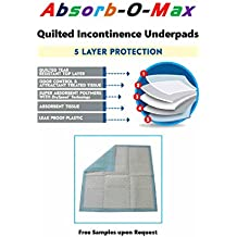 """Absorb-O-Max 5-Layer Quilted SAP Technology Incontinence Underpads/Mattress Protectors (23x36""""-150 per case)"""