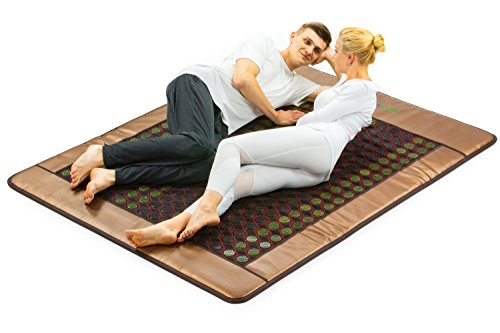 HL HEALTHYLINE - Far Infrared Heating Mattress Mat - 80inL x 60inW - Jade and Tourmaline Hot Stones - (Queen and Firm) - Negative Ions
