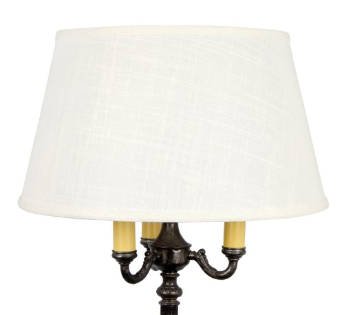 (Upgradelights Replacement Lamp Shade for Old Floor Lamps Laminated Off White Linen)