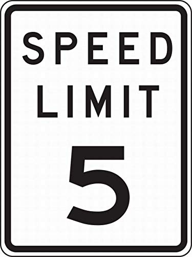 Dozili Wall Signs Notice Warning Sign Decor Tin Metal Signs Speed Limit 5 Safety Sign Novelty Signs 10