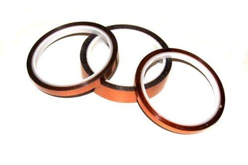 """SRA Gold Kapton Polyamide High Temperature Masking Tape, 260 Degree C, 30m Length x 19/64"""" Width"""