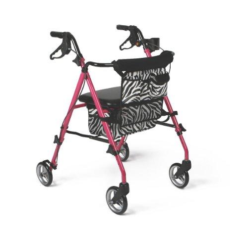 medline Posh Premium Lightweight Folding Aluminum Rollato...