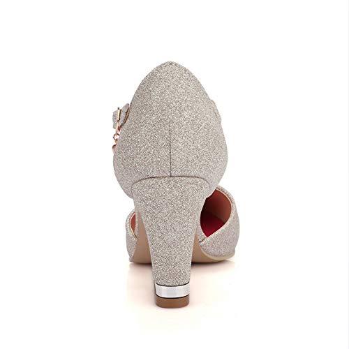 1TO9 Inconnu Doré MJS03549 Sandales Compensées Femme 4SprxSywqd