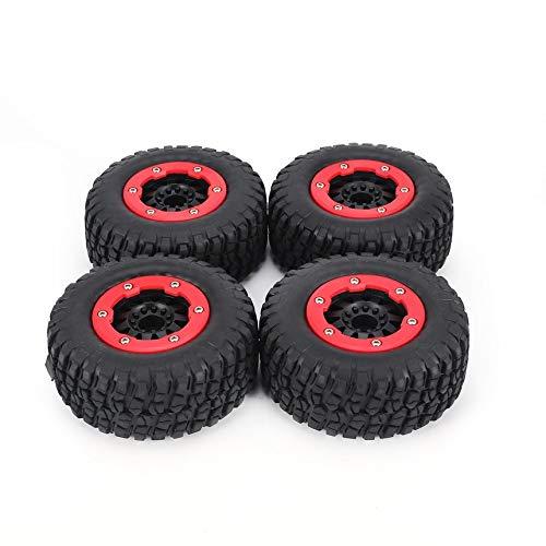 FindeGo Radfelge und Reifen 4pcs AUSTAR 110mm Felgengummi Reifenradsatzes Kit Ersatzteile Zubehör für Traxxas Slash HPI HSP Short Course Auto-Modus