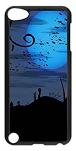 Bats over Cemetery Halloween Protective Hard PC Snap On Case for ipod touch 5 -1122012