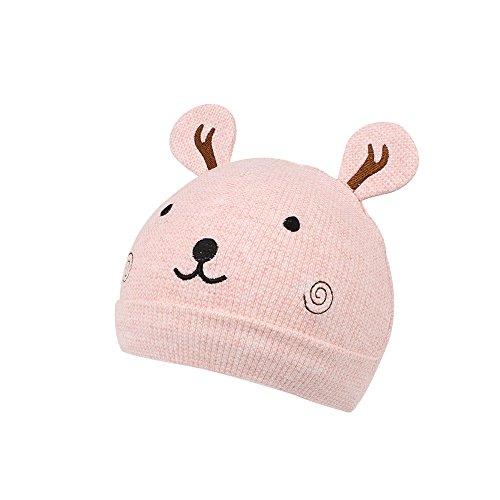 Sleeve Bear - Jangannsa Newborn Kids Hat Baby Boys Girls Cartoon Bear Sleeve Head Cap Spring 0-3Months (0-3Months, Pink)